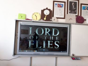 On Monday, we watched the movie 'Lord of the flies' for the Italian mobility.